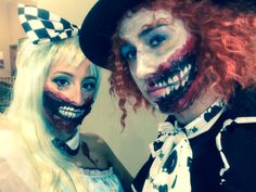 Scary Makeup- Alice and Mad Hatter stuck in wonderland