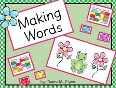 This is a fabulous center that my kids love to play. It is based off of another game that our Lit Coach had showed me.  The children make words usi...