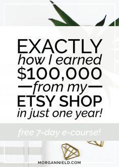 The ultimate step-by-step Etsy guide to making quit-your-day-job sales on Etsy without going insane. Click through to grab the free e-course that shows you my EXACT strategies and tactics for making sales EVERY SINGLE DAY on Etsy!