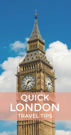 Traveling to London?  Check out this quick travel guide with tips for getting around, where to eat for cheap, things to do, and where to stay.
