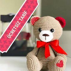 Crochet Toys Patterns, Stuffed Toys Patterns, Punch Needle Patterns, Love Bear, Free Pattern, Teddy Bear, Animals, Instagram, Amigurumi Doll