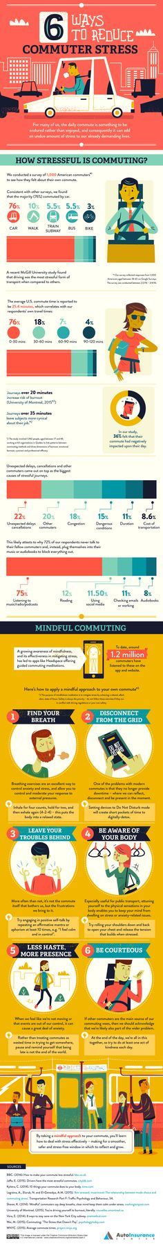 How to Reduce Commuter Stress: 6 Helpful Tips [Infographic], via @HubSpot