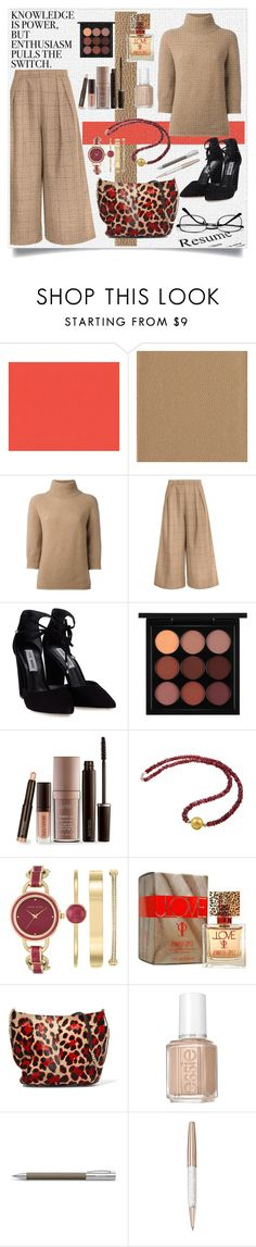 """60-SECOND STYLE: JOB INTERVIEW!!!"" by kskafida ❤ liked on Polyvore featuring MaxMara, Steve Madden, MAC Cosmetics, Laura Mercier, DaVonna, Anne Klein, Jennifer Lopez, Jimmy Choo, WALL and Essie"