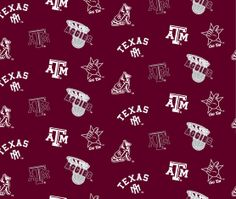 NCAA Cotton Fabric- Texas A&M Red Allover at Joann.com