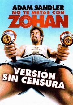 "Ver película No te metas con Zohan online latino 2008 gratis VK completa HD sin cortes descargar audio español latino online. Género: Comedia Sinopsis: ""No te metas con Zohan online latino 2008"". ""Zohan: licencia para peinar"". ""You Don't Mess With the Zohan"". Zohan (Adam Sandler)"
