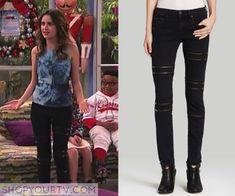 Austin & Ally: Season 4 Episode 18 Ally's Zipper Detail Skinny Jeans
