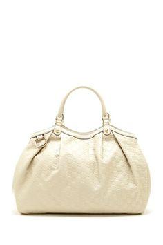 Gucci Leather Logo Medium Handbag