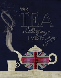 cuppa tea I love tea. It calls to me quite often throughout the day. A Union Jack teapot is ready for pouring hot, delicious tea on a dark navy background. This listing is for a color image Union Jack, Tea Quotes, Tea Time Quotes, Time Sayings, Tea And Books, Cuppa Tea, Chai, My Cup Of Tea, High Tea