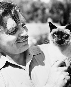 Clark Gable and his cat