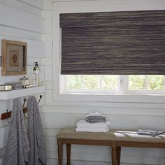 Blinds.com Woven Wood Shades shown in the Mandalay Basket pattern with the cordless lift option.