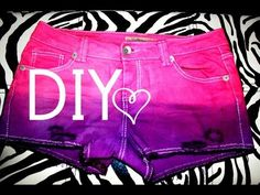 DIY Dip Dye Ombre Shorts  + DIstressing  Shorts yourself!  (CLICK PIC for How To Video)