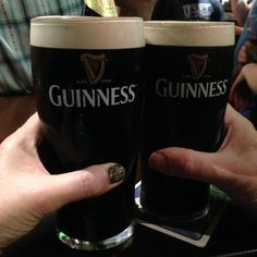 A pint of the black stuff and our hospitality! by Linda Personal Taste, Guinness, Pint Glass, Hospitality, Countries, October, Drink, Black, Food