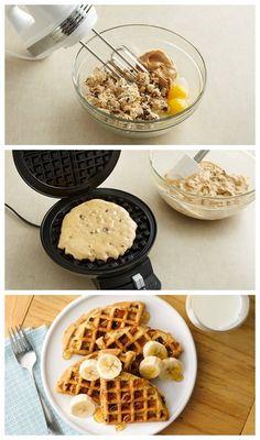 Chocolate Chip-Peanut Butter Waffles