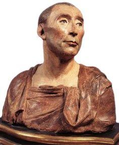 1432, Buste de Niccolo da Uzzano, Musée du Bargello à Florence. Répertorié comme oeuvre de Donatello (1386-1466) sur le site du Bargello, ce buste en terre cuite est attribué à Desiderio da Settignano