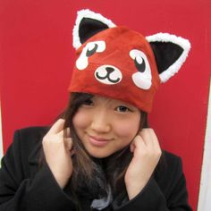 Red Panda Fleece hat by AthenasWink on Etsy, $25.00