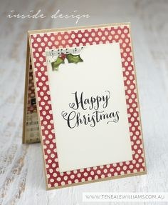 By Teneale Williams | Inside Design of Christmas Card
