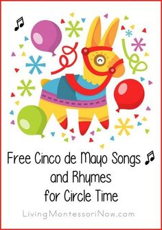 Free Cinco de Mayo (5th of May) songs and historical information from YouTube videos for a variety of ages; post also includes links to song and rhyme lyrics; very useful for classrooms and homeschools!