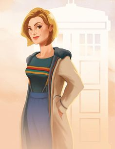 This is a signed art print of The 13th Doctor (Jodie Whittaker) from Doctor Who. You can choose between 8.5x11 or 5x7. (Note that the image shown is for the 8.5x11 image. Some cropping does occur on the 5x7). Senhores Do Tempo, Science Fiction, Sci Fi, Lucky Number, Girl Power, Geek Stuff, Dr Who, Gorgeous Women, Beautiful