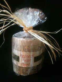 Redneck Toilet Paper Gag Gift Camoflauge by CountryGardenCrafts, $3.00