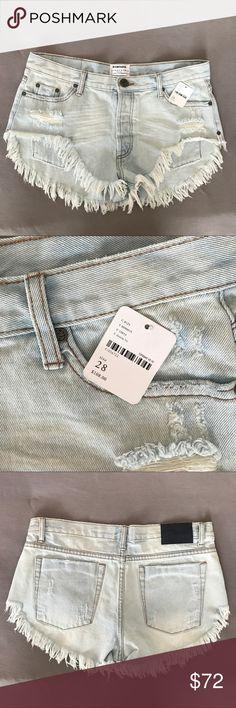 One Teaspoon Denim Shorts Never worn with tags (but tag fell off). Super cute denim shorts! One Teaspoon Shorts Jean Shorts
