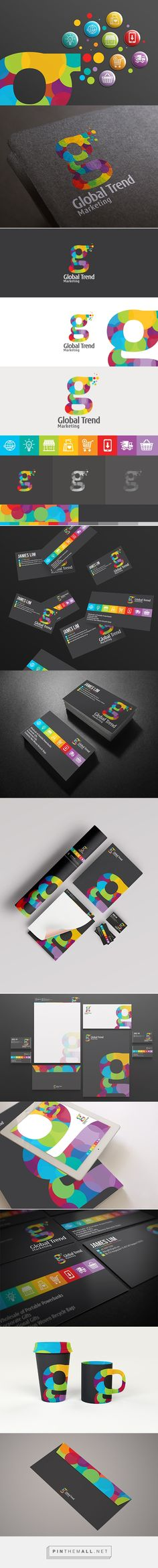 Global Trend identity packaging branding on Behance curated by Packaging Diva PD.  Global Trend is an online technology shopping store that brings in the best and latest tech stuff in town.