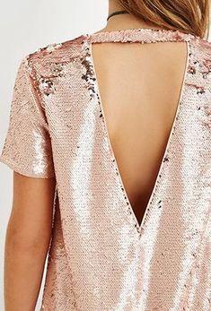 Rose gold sequins