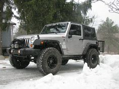 jeep wrangler silver lifted 2 door - Google Search