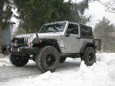 Black Jeep Wrangler 2 door, 4 inch lift, 35 inch tires ...