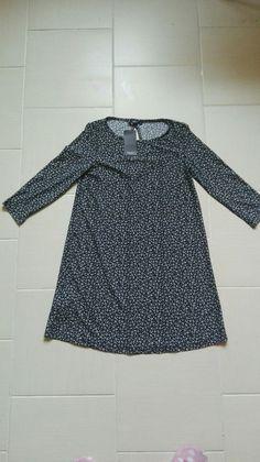 Nowa luźna klasyczna sukienka we wzorki kwiatki mango 36