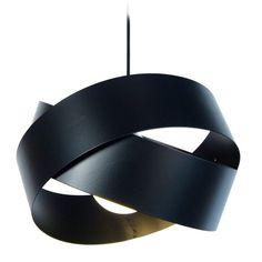 Suspension simple Noir 100 W - GORDIUM L120129 - Laurie Lumière
