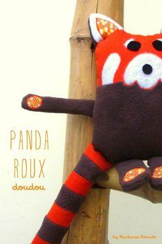 Le Doudou Panda Roux - tuto inside!