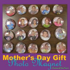 "Kindergarten Mother's Day Photo Magnet Gift Plus, ""Someday I hope I fill your shoes"" Father's Day craft"