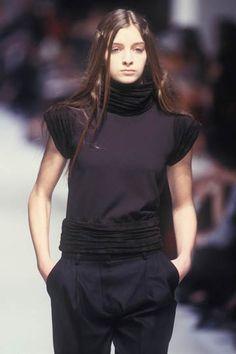 balenciaga fall 1999 Nicolas Ghesquiere, Runway Fashion, Balenciaga, Women Wear, Turtle Neck, Autumn, Fall, Classic, Sweaters