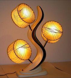 1950s atomic design lamp. I love this!