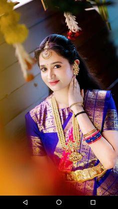 Bridal Hairstyle Indian Wedding, Indian Wedding Bride, Indian Bride And Groom, Indian Bridal, Bengali Wedding, Wedding Couples, Fancy Blouse Designs, Bridal Blouse Designs, Bridal Bangles