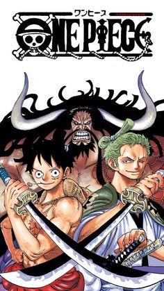 Luffy, Zoro and Kaidou Zoro One Piece, One Piece 1, One Piece Fanart, Anime D, Manga Anime One Piece, Roronoa Zoro, One Piece Drawing, One Piece World, Monkey D Luffy