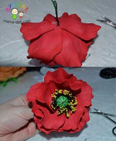Мак из фоамирана мастер класс | Цветы своими руками