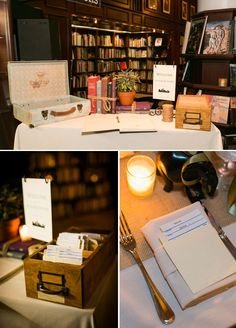 Table set-up - probably like the other styling of the guestbook table better.