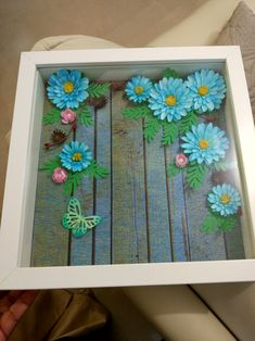 Punch craft.. blue daisies