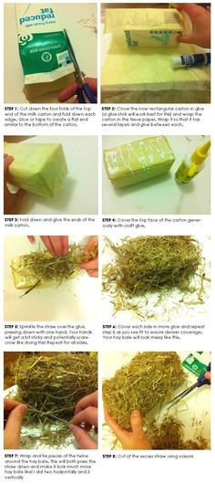 Bon Bon Boutique Home - Blog - Mini hay bales DIY tutorial