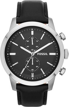 Shop for Fossil Men's 'Townsman' Black Leather Chronograph Watch. Get free delivery On EVERYTHING* Overstock - Your Online Watches Store! Black Leather Watch, Mens Watches Leather, Thick Leather, Leather Men, Fossil Watches For Men, Cool Watches, Men's Watches, Jewelry Watches, Knight