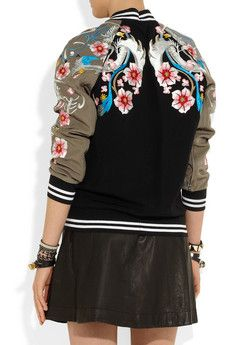 3.1 Phillip Lim Classic Varsity Jacket with Far East inspired embroidery $1,312 (sold out)