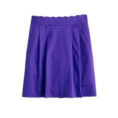 scallop skirt [j.crew]