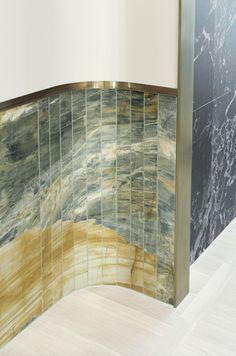 Concept-store Apropos Hamburg, men flagship, stone wall, retail design by Rodolphe Parente