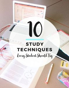 10 study techniques Every student should try Study Tips For High School, School Tips, School Hacks, Law School, College Life Hacks, College Tips, Study College, College Survival Guide, College Teaching