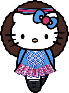 Irish Dance Hello Kitty. Haven't seen this one in blue yet - cute!