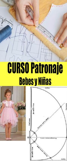Patronaje Niñas Bebes para aprender online #curso #costura #patrones #moldes Sewing Patterns For Kids, Simplicity Sewing Patterns, Doll Patterns, Sewing Tutorials, Sewing Projects, Dressmaking, Diy Clothes, Diy And Crafts, Kids Fashion