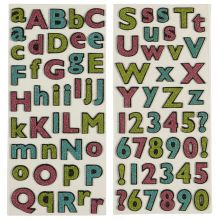 Recollections Glittered Alphabet Stickers