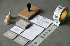 Beautiful stationery for Hecker Guthrie #design #stamp