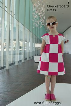 nest full of eggs: Checkerboard Dress Tutorial Amazing pieced dress using the O+S Roller Skate.  Abby has requested one just like this:)